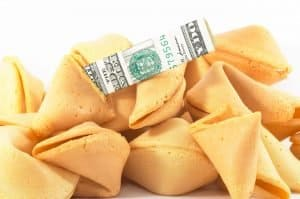 Fortune cookies with money inside